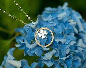 Karma clover pendant necklace,karma shamrock necklace,karma lucky four leaf clover necklace,lucky charm,St patrick's day gift,Irish