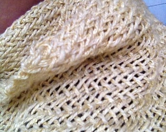 Pale yellow scarf in twill