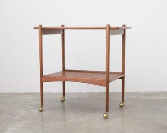 Mid Century Rolling Bar Cart / Storage Shelf