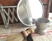 Vintage Barber Shop Collection ~ Shaving Mirror, Mug & Two Brushes