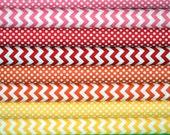 Fat Quarter Fabric bundle for quilt or craft Riley Blake warm colorway Stash Builder bundle 8 Fat Quarters