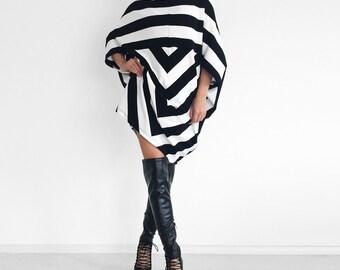 Plus size sweater dress/ Oversized tunic dress/ Striped dress/ fall fashion/ Maternity tunic dress/ Loose sweater/ Long sleeved dress URBAN