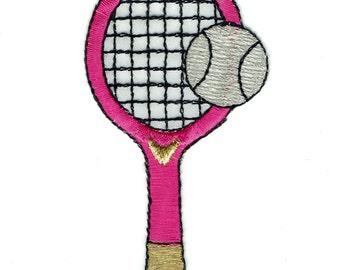 Pink Tennis Raquet Patch X American Deadstock Patches