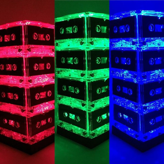 Color Changing Tape Light: Rock N Roll Color-changing Cassette Tape Lamp Mixtape Light