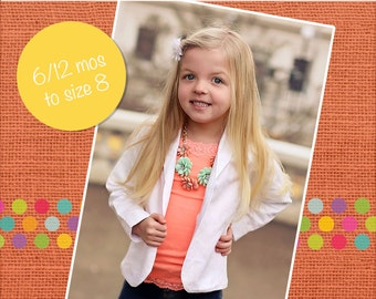 Roxie's Fitted Blazer for PDF Pattern Sizes 6-12m to size 8 girls