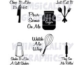 Digital File - Funny Kitchen Sayings with SVG, DXF, PNG Commercial & Personal Use