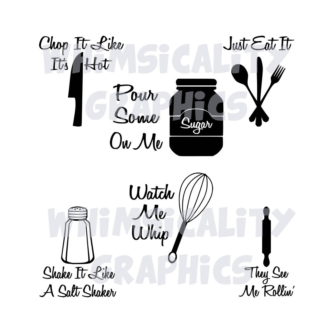 Funny Kitchen Sayings: Digital File Funny Kitchen Sayings With SVG DXF PNG