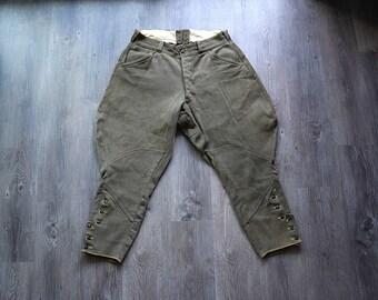 1930s jodhpurs . vintage 30s gabardine pants