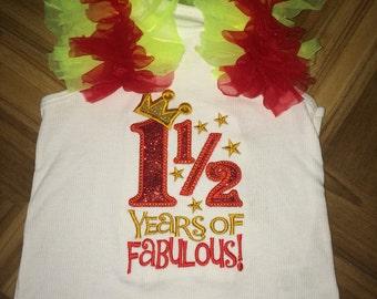 1 1/2 Years Of Fabulous Ruffle Shirt
