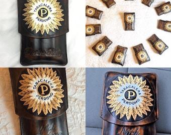 Perdomo Leather Cigar Case Spanish Cedar Lined. Handmade in the U.S.A.