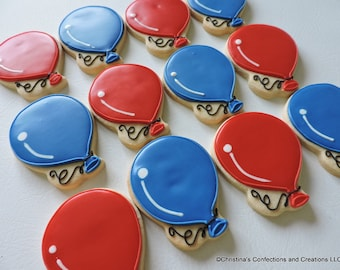 Birthday or Celebration Balloon cookies (2407)