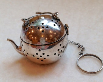 Vintage Sterling Teapot Tea Ball