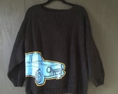 Car Graphic Oversized Sweater (women's med)