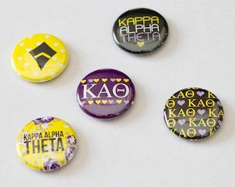 """Kappa Alpha Theta 1"""" Buttons"""