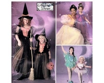 SALE 1990s Girls Cute Witch Princess Fairy Peter Pan and Tinkerbelle Sewing Pattern Sizes 2-6 Simplicity 0674 Hat & Shoes Andrea Schewe Uncu