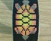 RESERVED for Jen H. - Loomed Turtle Cuff Bracelet - Tribal Cuff - Native Cuff Bracelet - Handmade - Elusive Wolf