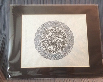 Pen and Ink Celtic Knot Herons