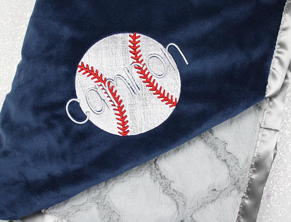 Baseball blanket personalized baseball sports blanket boy baseball blanket personalized baseball sports blanket boy blanket navy and grey baby boy baseball throw baby gift soccer blanket negle Image collections