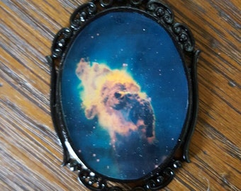SALE Galaxy Victorian Style Cameo Pendant Necklace
