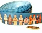 """Starwars Legos - 7/8"""" grosgrain ribbon - by the yard"""