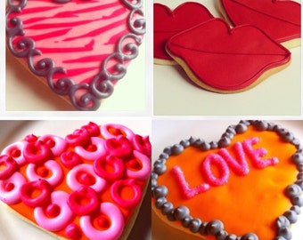 Valentine's Day Gifts Sugar Cookies Iced Decorated Favors