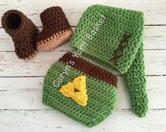 Legend Of Zelda Link Hat Knitting Pattern : Baby zelda costume Etsy