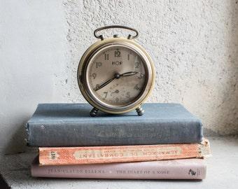 Vintage French Clock // 1950 Mechanical Alarm Clock