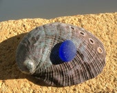 JQ Cobalt  Blue Pendant Genuine Sea Glass CB-F7-1
