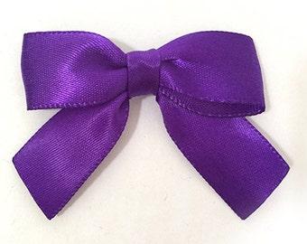 "12 Small Haze Purple Bows - 2"" Handmade"