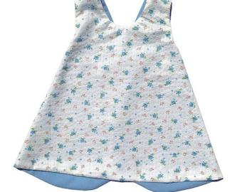 Criss cross pinafore dress 0-3 months