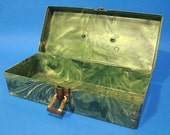 Vintage 60s Tool Box Jewelry Organizer Sewing Housewares Home Living Collectibles Home Decor Mens Fish Tackle Womens