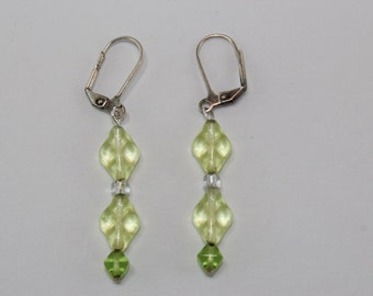 Yellow and Lime Drop Earrings