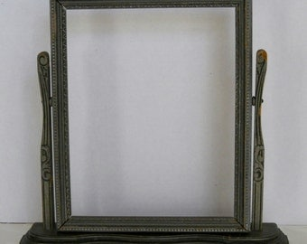 Vintage Wood Swivel Swinging Picture Frame Old Photo Frame Gray 8 x 10