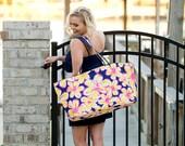 Monogrammed Tote Bag Purse Luggage  Bridesmaid Sorority Teacher Gift