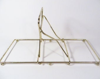 Vintage Adjustable Brass Book Rack - Brass Book Holder