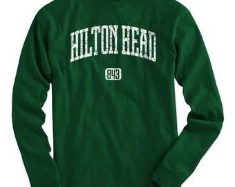 LS Hilton Head 843 Tee - Long Sleeve T-shirt - Men and Kids - S M L XL 2x 3x 4x - Hilton Head Shirt, South Carolina - 4 Colors