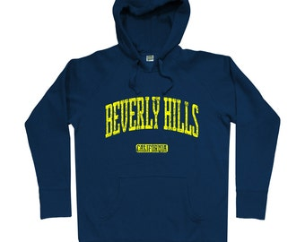 Beverly Hills Hoodie - Men S M L XL 2x 3x - Beverly Hills California Hoody, Sweatshirt, Los Angeles, L.A. - 4 Colors