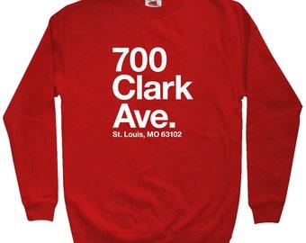 St. Louis Baseball Stadium Sweatshirt - Men S M L XL 2x 3x - St. Louis Shirt, Sports, Fan - 4 Colors