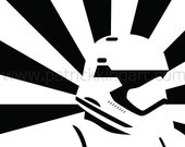 Star Wars The Force Awakens - Propaganda Style First Order Stormtrooper Art Print