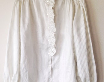JO LISTER Woman's  Long Sleeve Button Front Top Shirt Size 18