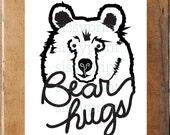 Bear Hugs bear print
