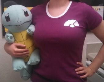 Pokeball Babydoll Tee - Kalos Trainer Customization Shirt for Pkmn Cosplay