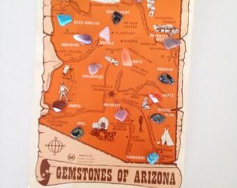 Gemstones of Arizona 1977 Maack Co. souvenir Vintage Collection