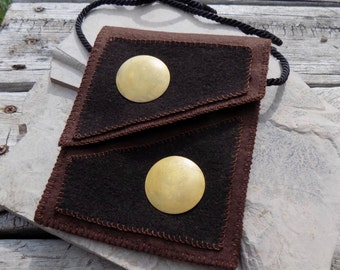 Two Moons - Small Cross Body Bag/Felted Wool Bag