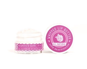 SUMMER SALE - Raspberry & Vanilla - Whipped Lip Butter - Natural Icing for Your Lips