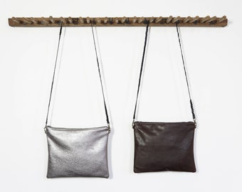 Oversized Clutch - Gun Metal or Dark Roast - SALE - 50% OFF