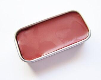 Forever Red Mineral Lip Color - Lipstick In A Tin - Zero Waste Lipstick - Vegan Mineral Makeup -  Cruelty Free Cosmetics