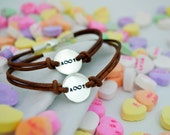 Personalized Best Friend Bracelet Set - Couples - Valentine's Gift