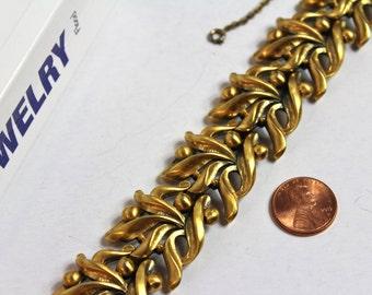 Vintage TORTOLANI Gold tone floral Bracelet  # 508