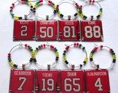 Chicago Blackhawks Wine Charm Set of 8